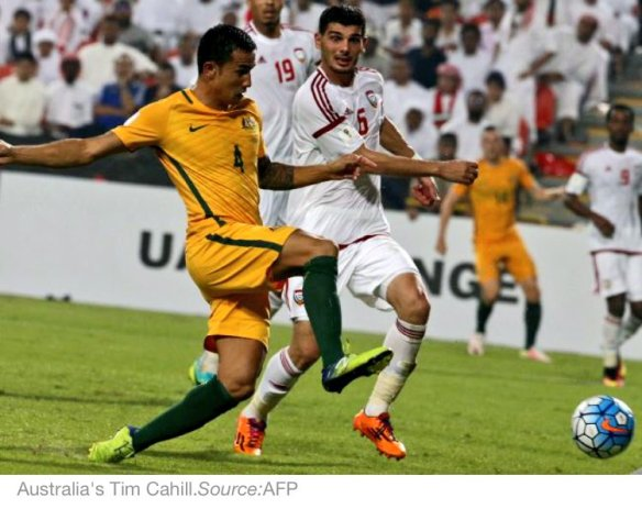 Tim Cahill scores the winner against UAE in Asian World Cup qualifier 2016-09-06