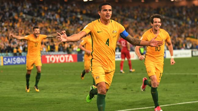 Tim Cahill saves Australia vs Syria - World Cup qualifier Sydney 2017-10-10