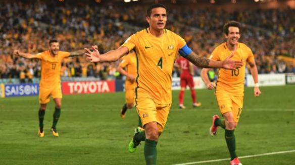 23bf824a7c7 Tim Cahill saves Australia vs Syria - World Cup qualifier Sydney 2017-10-10