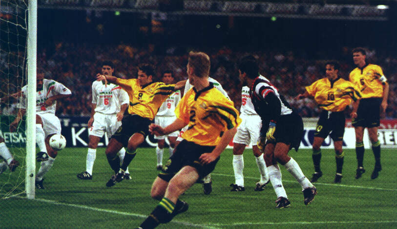 Craig Moore - Australia vs Iran 1997 World Cup Qualifier MCG Melbourne