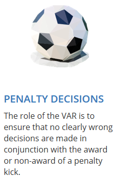 VAR guidelines on penalty decisions