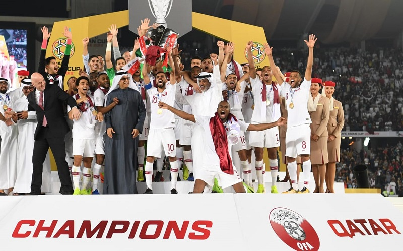 Qatar win the 2019 Asian Cup in the United Arab Emirates, beating Japan 3-1 in the final